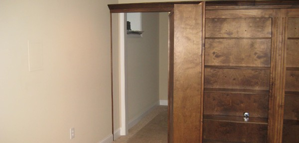 custom shelving hidden door
